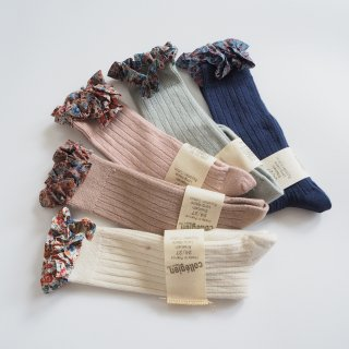 Collegien<br>elisabeth<br>liberty ruffle high socks<br>5colors<br>(18/20,21/23,24/27,28/31,32/35)