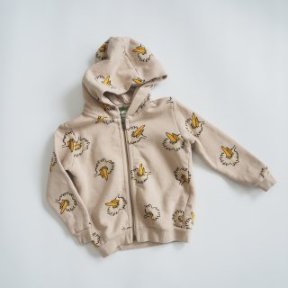 BOBO CHOSES<br>birdie all over zipped hoodie<br>(12-18m,18-24m,24-36m)