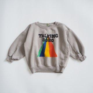 BOBO CHOSES<br>talking bobo rainbow sweatshirt<br>(2-3y,4-5y,6-7y)