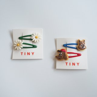 TINYCOTTONS<br>hair clips set<br>daisies / explorers