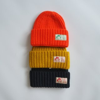 TINYCOTTONS<br>solid beanie<br>red / bamboo yellow / deep blue
