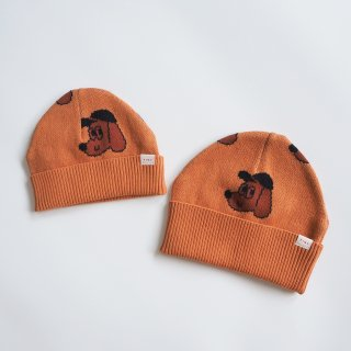 TINYCOTTONS<br>dog beanie<br>true brown<br>baby / kids