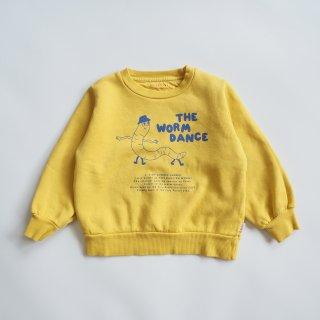TINYCOTTONS<br>worm dance sweatshirt<br>bamboo yellow<br>(2y,3y,4y,6y)
