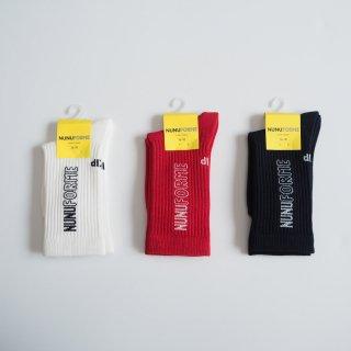 nunuforme<br>socks<br>white / red / navy<br>(16-18cm,19-21cm)