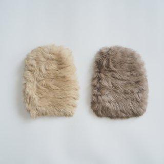 nunuforme<br>fur beanie<br>beige / brown<br>(one size)