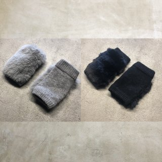 nunuforme<br>mittens<br>gray / black<br>(kids size)