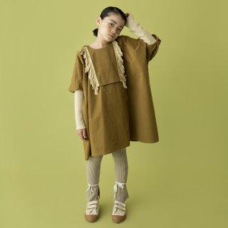 folkmade<br>fringe dress<br>khaki beige<br>(S,M,L,LL)