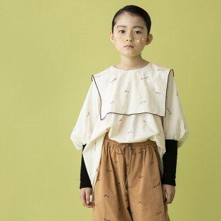 folkmade<br>embroidery rogo sailor<br>pale beige×black<br>(S,M,L,LL)