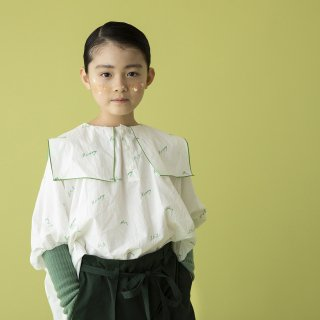 folkmade<br>embroidery rogo sailor<br>off white×green<br>(S,M,L,LL)