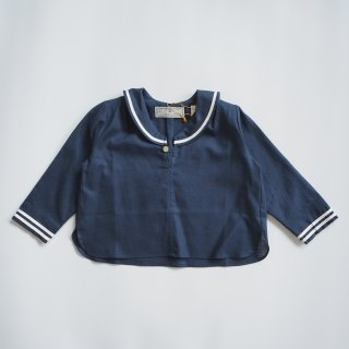 AU CLAIR DE LA LUNE<br>sailor shirt<br>navy<br>(90,100,110,120)