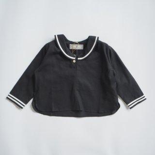 AU CLAIR DE LA LUNE<br>sailor shirt<br>black<br>(90,100,110,120)