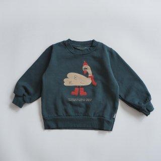 TINYCOTTONS<br>swan explorer sweatshirt<br>ink blue<br>(2y,3y,4y,6y)