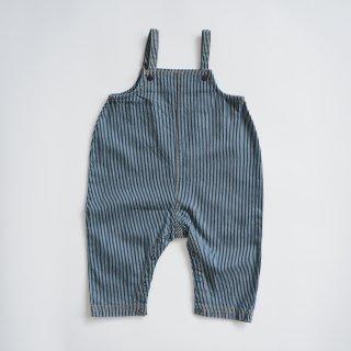 TINYCOTTONS<br>stripes denim dungaree<br>stripes denim<br>(12m,18m,24m)