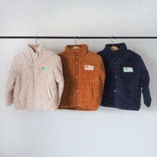 TINYCOTTONS<br>polar sherpa jacket<br>light cream / toffee / ink blue<br>(2y,3y,4y,6y,8y)
