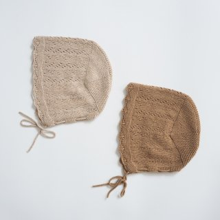<img class='new_mark_img1' src='https://img.shop-pro.jp/img/new/icons14.gif' style='border:none;display:inline;margin:0px;padding:0px;width:auto;' />Bebe Organic<br>mabel bonnet<br>natural / caramel<br>(9-12m,18-24m)