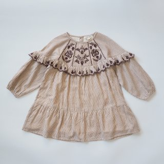 <img class='new_mark_img1' src='https://img.shop-pro.jp/img/new/icons14.gif' style='border:none;display:inline;margin:0px;padding:0px;width:auto;' />LOUISE MISHA<br>melody dress<br>cream check<br>(12m,18m,24m)