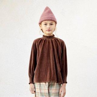 LiiLU<br>smocked blouse<br>brownie<br>(2y,4y,6y,8y)