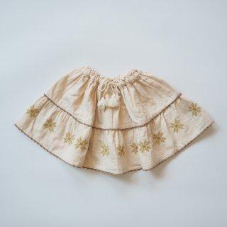 LiiLU<br>folk skirt<br>ecru folk<br>(2y,4y,6y,8y)