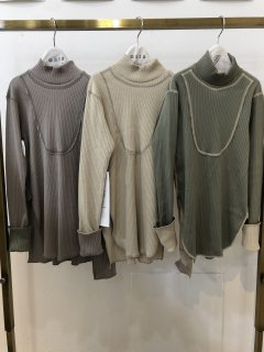 <img class='new_mark_img1' src='https://img.shop-pro.jp/img/new/icons14.gif' style='border:none;display:inline;margin:0px;padding:0px;width:auto;' />GRIS<br>rib mock neck shirt<br>sage green / ash gray<br>(S,M,L)