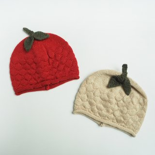 <img class='new_mark_img1' src='https://img.shop-pro.jp/img/new/icons14.gif' style='border:none;display:inline;margin:0px;padding:0px;width:auto;' />Konges Slojd<br>miro berry hat<br>true red / white cream melange<br>(6-9m,12-18m,2-4y)