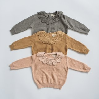 <img class='new_mark_img1' src='https://img.shop-pro.jp/img/new/icons14.gif' style='border:none;display:inline;margin:0px;padding:0px;width:auto;' />QUINCY MAE<br>petal knit sweater<br>petal / honey / basil<br>(6-12m,12-18m,18-24m)