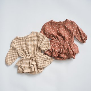 <img class='new_mark_img1' src='https://img.shop-pro.jp/img/new/icons14.gif' style='border:none;display:inline;margin:0px;padding:0px;width:auto;' />QUINCY MAE<br>rosie romper<br>honey gingham / clay<br>(6-12m,12-18m,18-24m)