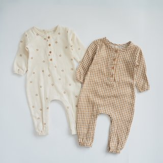 <img class='new_mark_img1' src='https://img.shop-pro.jp/img/new/icons14.gif' style='border:none;display:inline;margin:0px;padding:0px;width:auto;' />QUINCY MAE<br>woven jumpsuit<br>honey gingham / stars<br>(3-6m,6-12m)