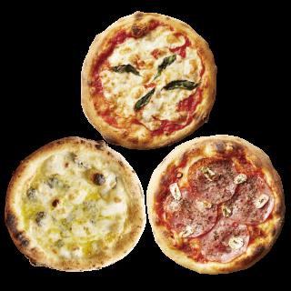 冷凍ピザ 「定番3種セット」 (マルゲ山・サラミ山・チーズ山)