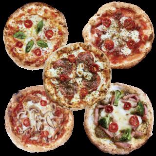 冷凍ピザ 「山頂の5種セット」 (マルゲ・サラミ・あんちょび・キノコ・ジェノベ)