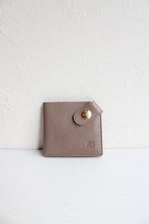 ボタン付き2つ折り財布(コインなし)/5412305240*WA#IB