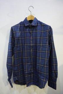 【セール30%off】トゥモローランド ソフトネル トーマスメイソンチェックシャツ ネイビー/63019501307*SL#MC*