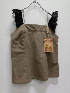 KIN 茶キャミソール(黒レース付)/FT-0481*SS#US*