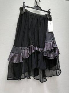 フリル付きブラックスカート/12-01603*SK#US*
