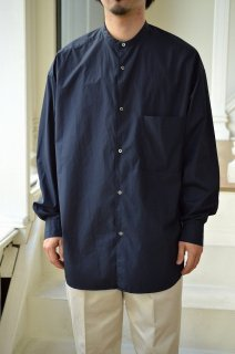 Broad L/S Oversized Band Collar Shirt/GM211-50111B*SL#GH