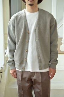 Moss stitch V/N cardigan / 2101-002*KN#GH