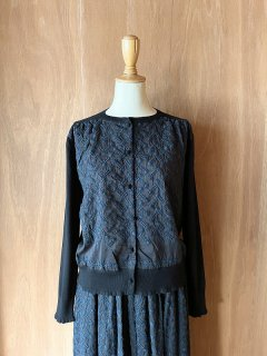 Knit Cardigan with Embroidery Fabric/VE189*KN#IT