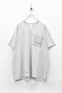 sneeuw フォルテッドポケットTシャツ - GREY