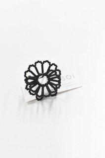 SOi / Flower ring / ブラック