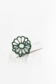 SOi / Flower ring / ダークグリーン