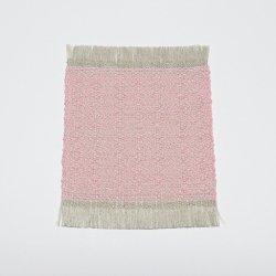 麻綿コースター/大[ピンク色]| 富永和雅・かずよ