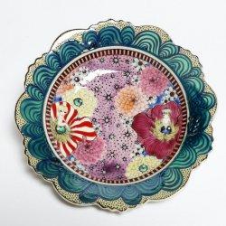 色絵牡丹皿 7寸皿 -distance-|水元かよこ