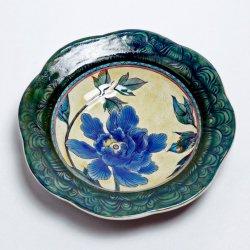 色絵牡丹皿 7寸皿 |水元かよこ