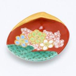 花木米 貝型小皿 (黄緑)|中川眞理子
