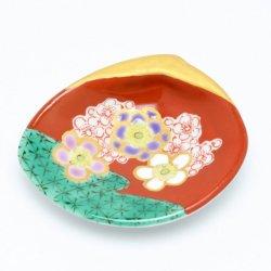 花木米 貝型小皿 (紫)|中川眞理子
