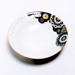 星月夜の華 5寸皿(水色)|西野美香