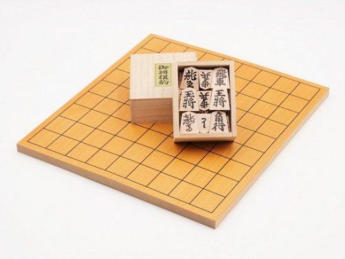 折り将棋盤・木製駒 押彫セット