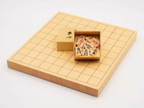卓上将棋10号・プラスチック裏赤駒セット