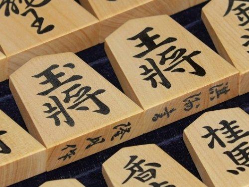 将棋駒 隆月作 彫埋 島黄楊 淇洲書    (送料無料)