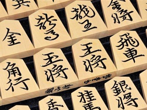 将棋駒 越山作 彫駒 薩摩ツゲ 鵞堂   (送料無料)