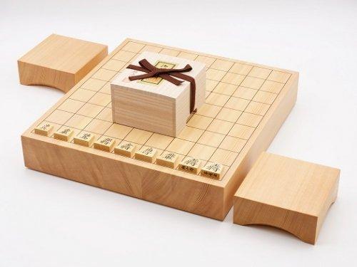 卓上将棋20号・駒 本つげ 昇竜彫・駒台セット  (送料無料)